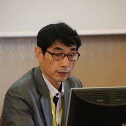 Hee-seok Byeon at the 1st Global Procurement Conference in Rome's Villa Mondragone.