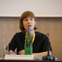 Zornitsa Kutlin-Dimirova at the 1st Global Procurement Conference in Rome's Villa Mondragone.